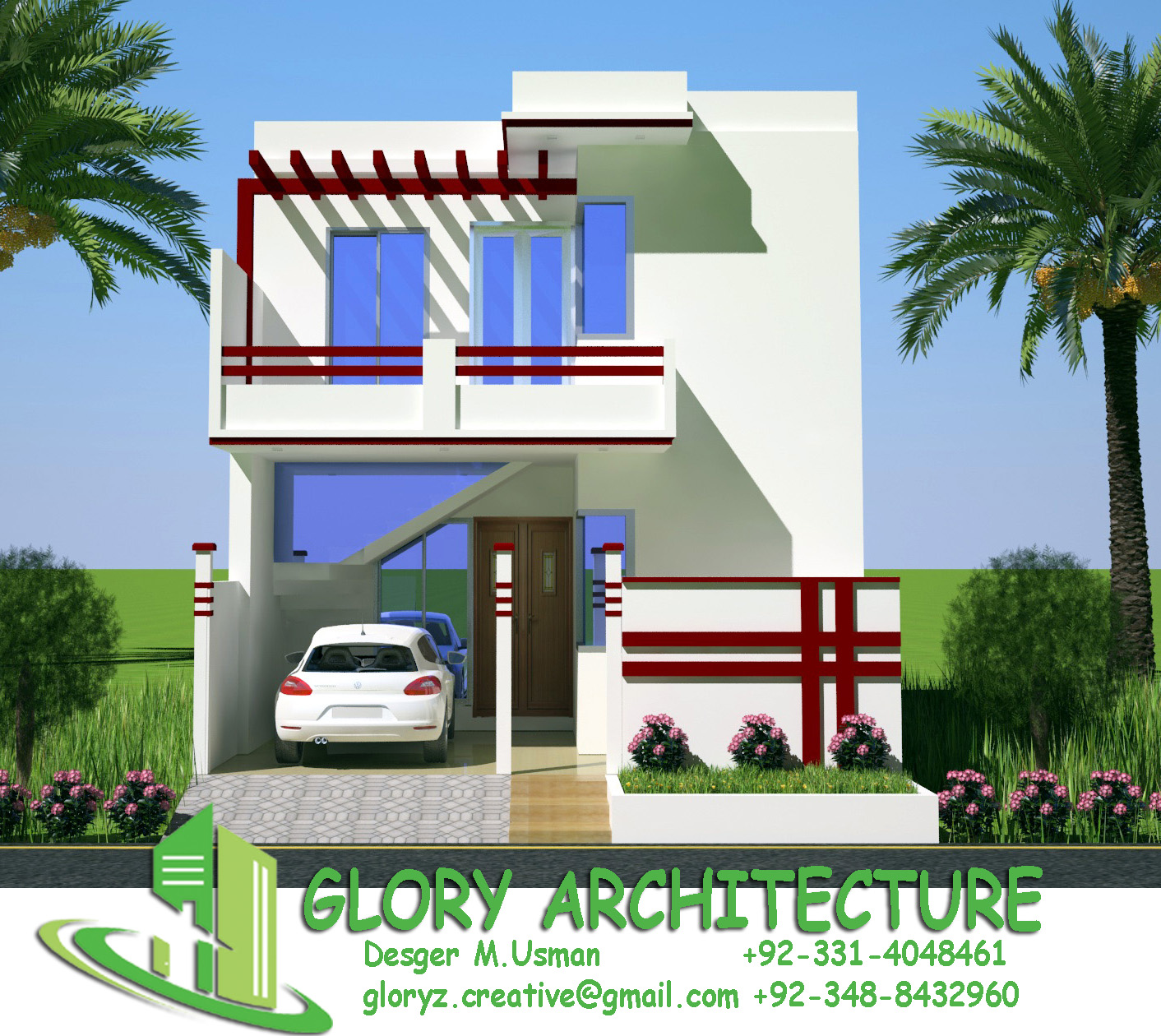 Glory Architecture 25x50 House Elevation Islamabad: Glory Architecture