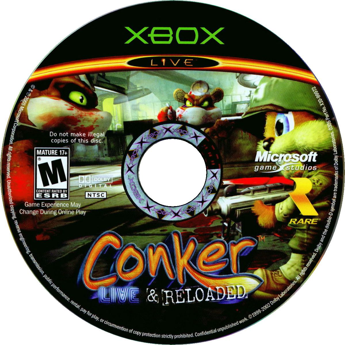 Label Conker Live And Reloaded Xbox