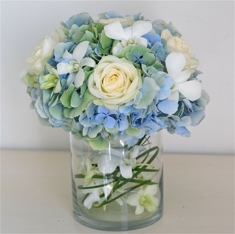 Blue Wedding Table Decorations: Wedding Flowers Blog: Claudia's Pale Blue,Green,Ivory