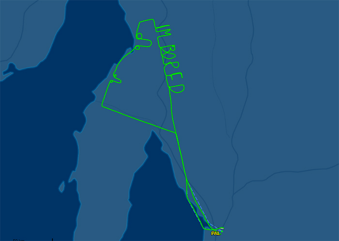 This Pilot Was Bored During Two-Hour Test Flight, So He Wrote It In The Sky