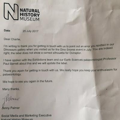 Ένας 10χρονος εντόπισε λάθος στο Μουσείο Φυσικής Ιστορίας του Λονδίνου