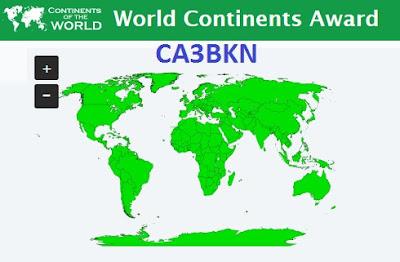 World Continents Award CA3BKN