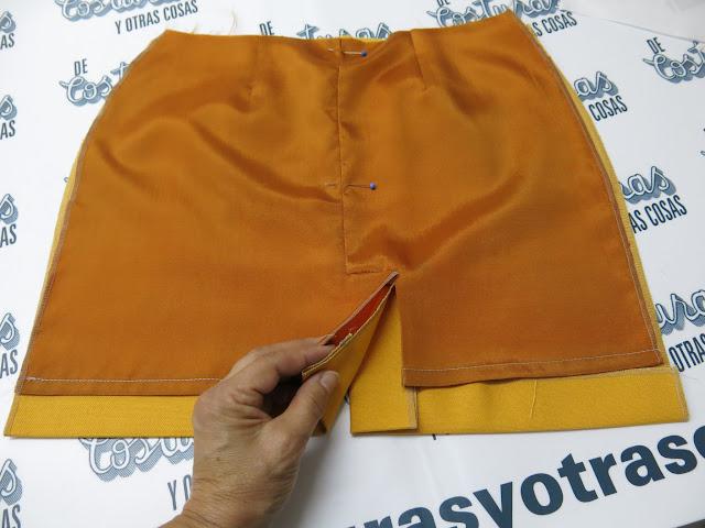 tutorial de costura para forrar faldas