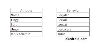 Contoh Atribute dan Behavior Java