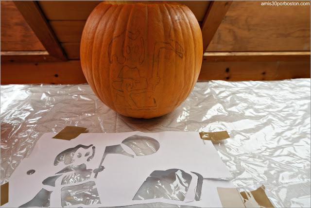Plantilla Muerte para Calabazas Decoradas para Halloween