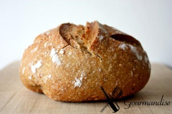 Pão de einkorn e linhaça