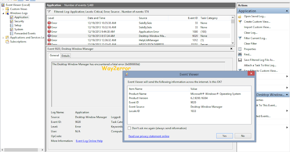 Troubleshooting Windows Errors And Solutions: Event 9020 Desktop