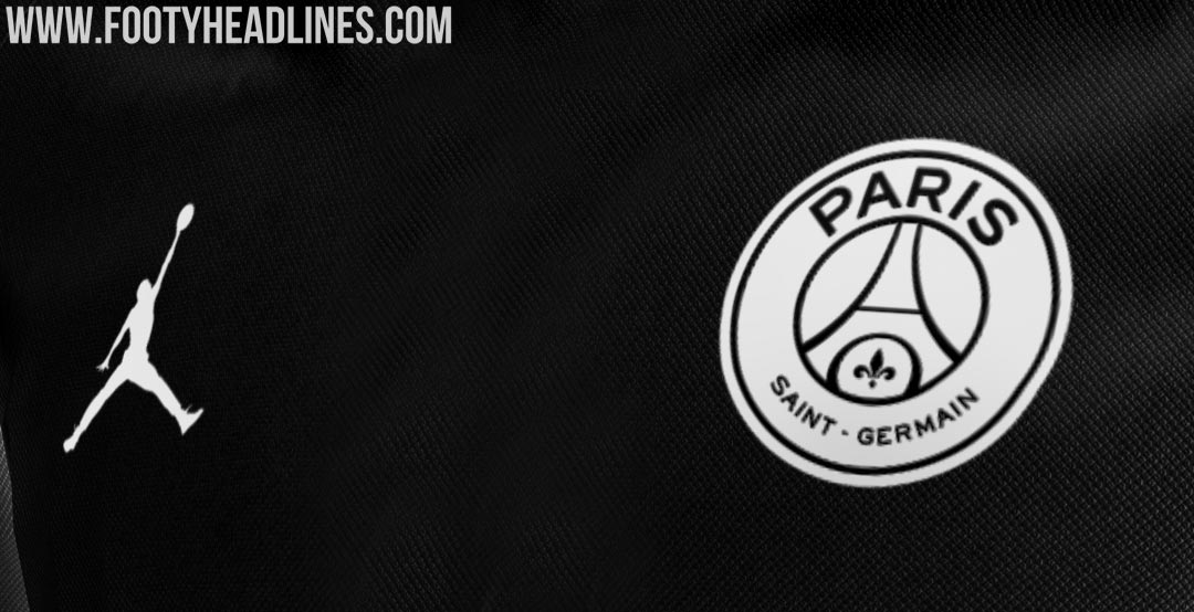 b1dc02a0f93 One of the two Air Jordan x PSG player jerseys will be black with the  Jumpman in white.