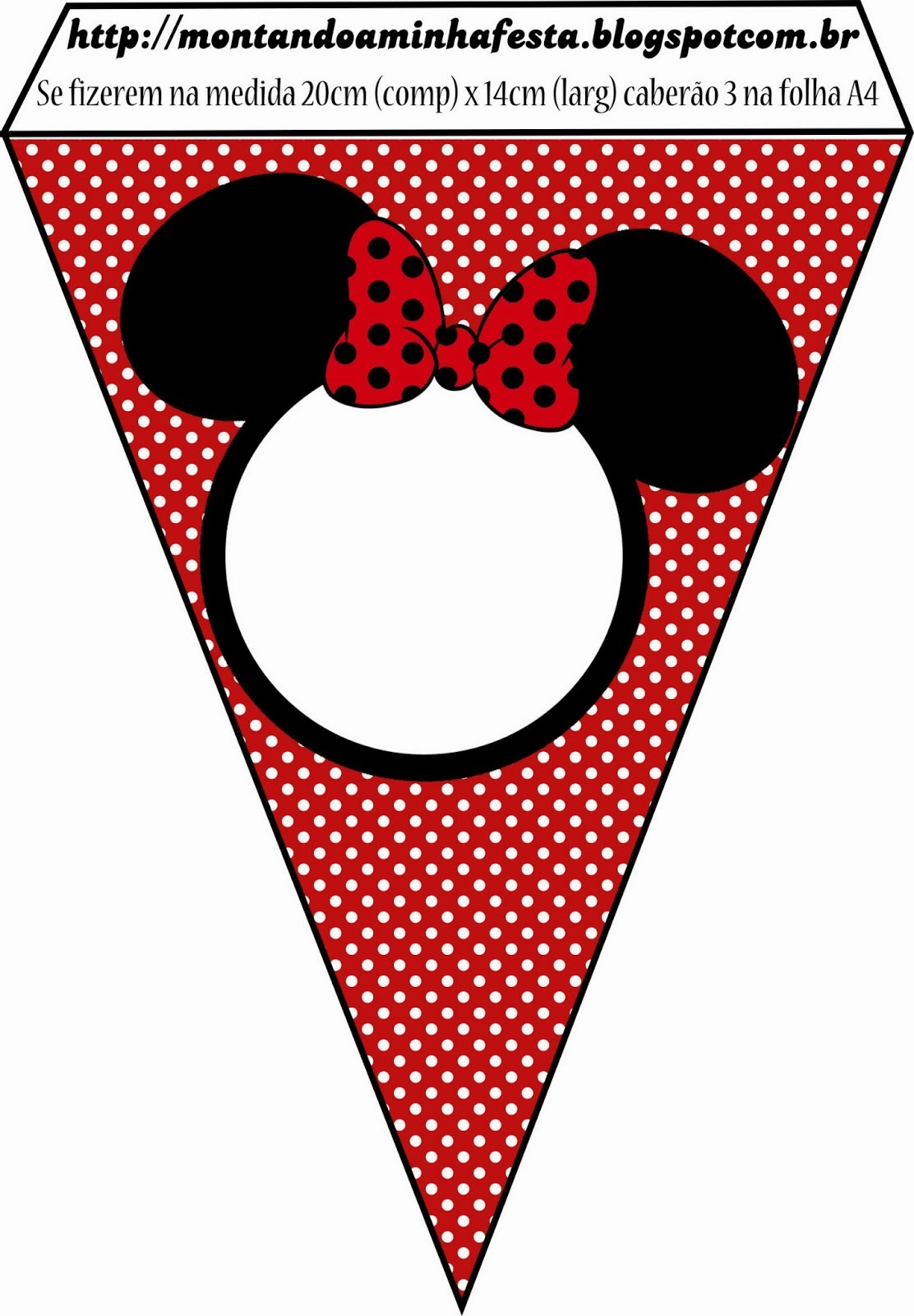 Minnie in Red: Free Printables and Party Invitations. | Oh My Fiesta ...
