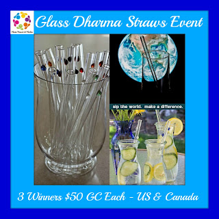 Enter the Glass Dharma Straws Giveaway, 3 Winners, ends 8/6