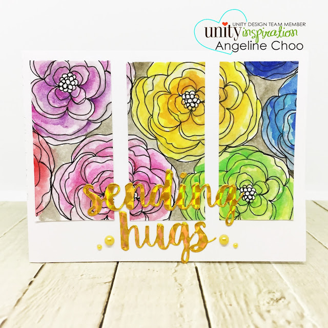 ScrappyScrappy: Unity Stamp's 10th Birthday Party - Obssesed with Floral #scrappyscrappy #unitystampco #card #cardmaking #stamp #stamping #craft #crafting #scrapbook #quicktipvideo #youtube #video #papercraft #adornit #watercolorpainting #floralstamp #backgroundstamp #panelcard #mftstamps #sendinghugs #diecut #holographic