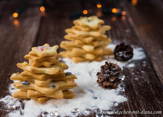 3D - Kekse-Weihnachtsbäumchen