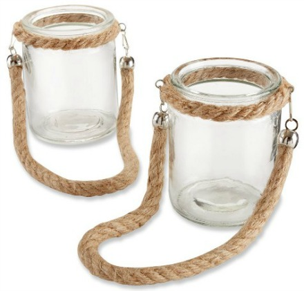 HangingRope Jar Lanterns
