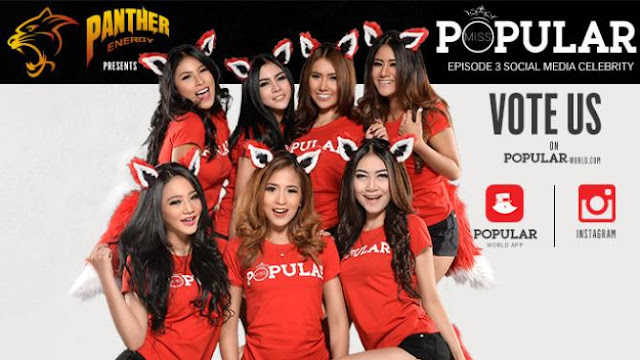 "Finalis Miss POPULAR Episode 3 ""Social Media Celebrity 2016"" Ed. Mei 2016 Barbie Nouva, Oktavia Electra, Theresia Citra, Lia Loerenzha, Dea Alexa, Rusila Puty, Cherry Laurent 