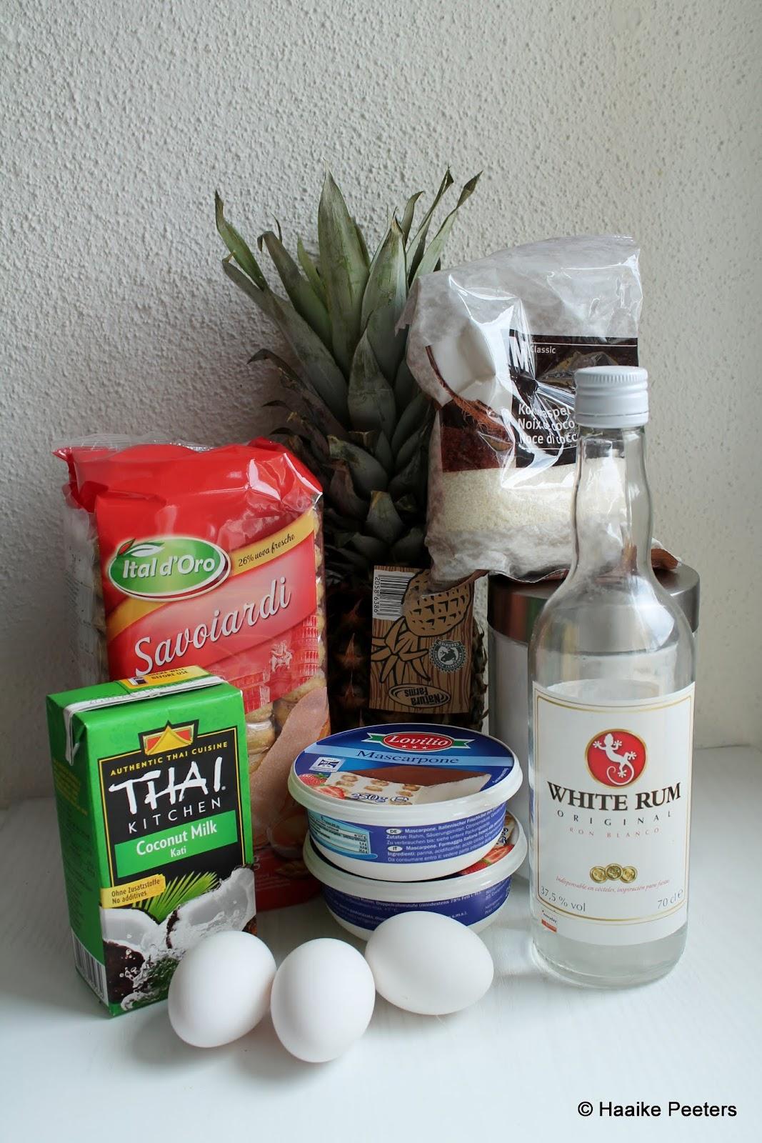 Tiramisu met kokos en ananas (Le petit requin)