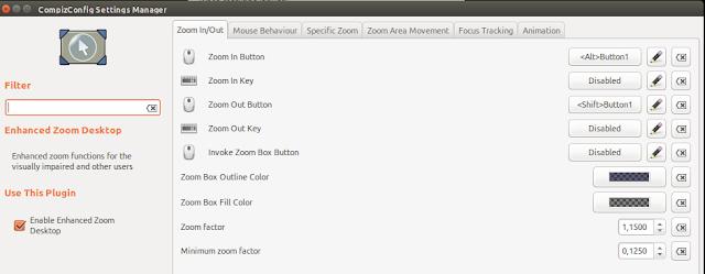 Mengaktipkan zoom di ubuntu