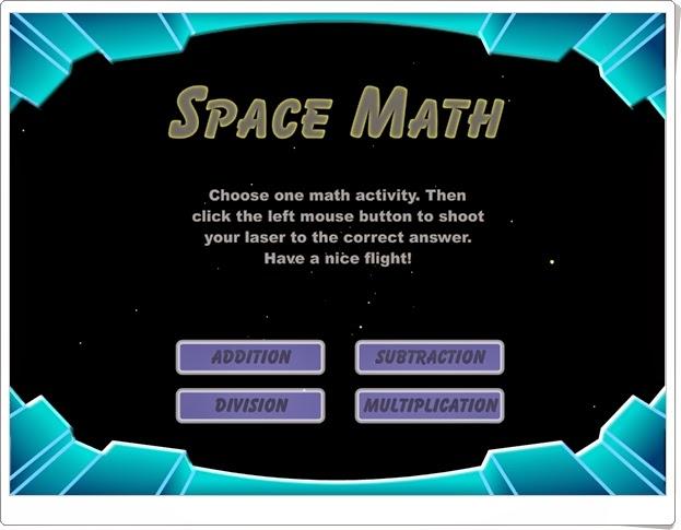 """Space Math"" (Cálculo mental de Primaria)"