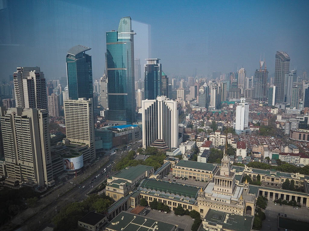 The view from Shangri-La Shanghai's 34th floor