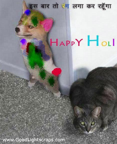 cartoon images of happy holi