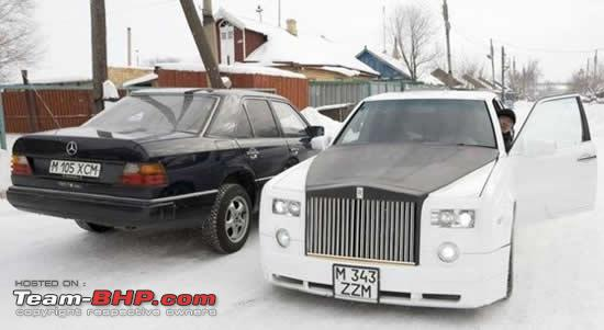 rolls royce phantom replica mercedes 124