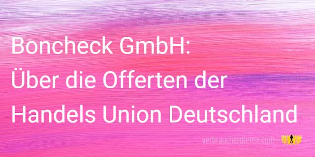 Titel: Über die Offerten der Handels Union Deutschland