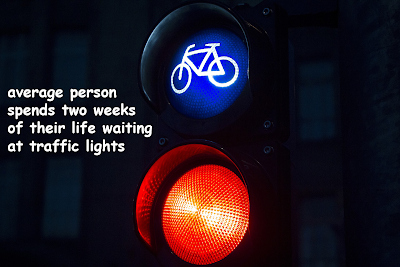 The average person spends two weeks of their life waiting at traffic lights