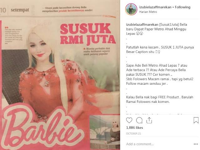 WANITA BERWAJAH PERSIS BARBY DOLL MASUK PASAR