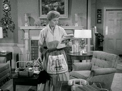 Barbara Billingsley as June Cleaver in Shirtwaist Dress in Leave It To Beaver Show