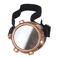 Men and women's steampunk accessories. cyclops eyepatch Sodial Copper Steampunk Monocle