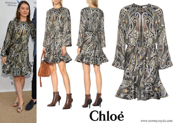 Princess Alexandra of Hanover wore Chloe Printed silk blend dress