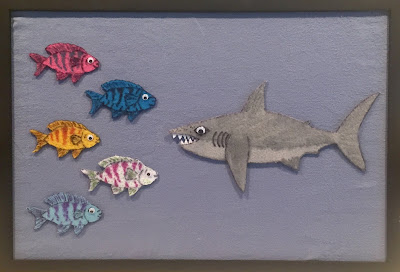 Five Little Fishies, shark flannel rhyme, shark fingerplay
