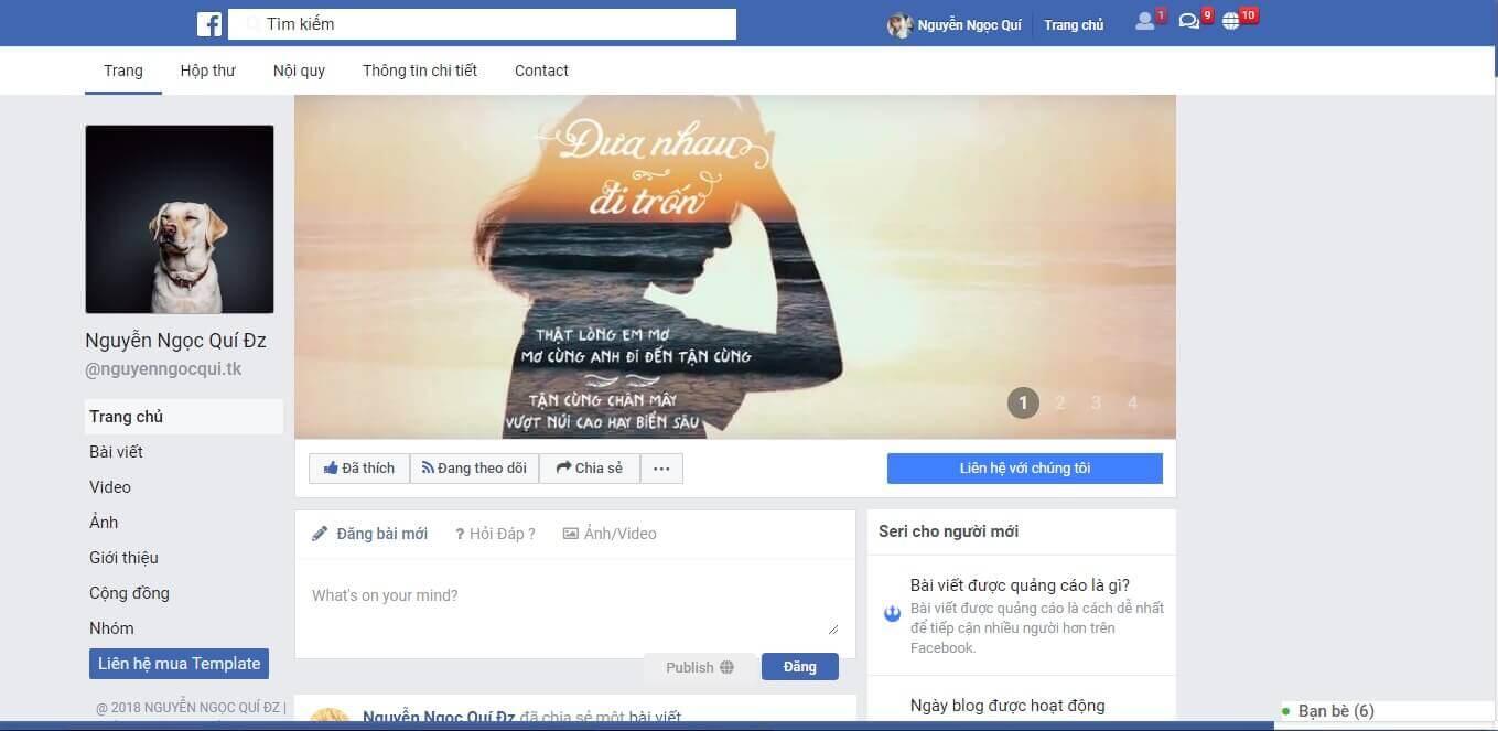 Chia sẻ template chuẩn seo, template  fanpage facebook, template facebook