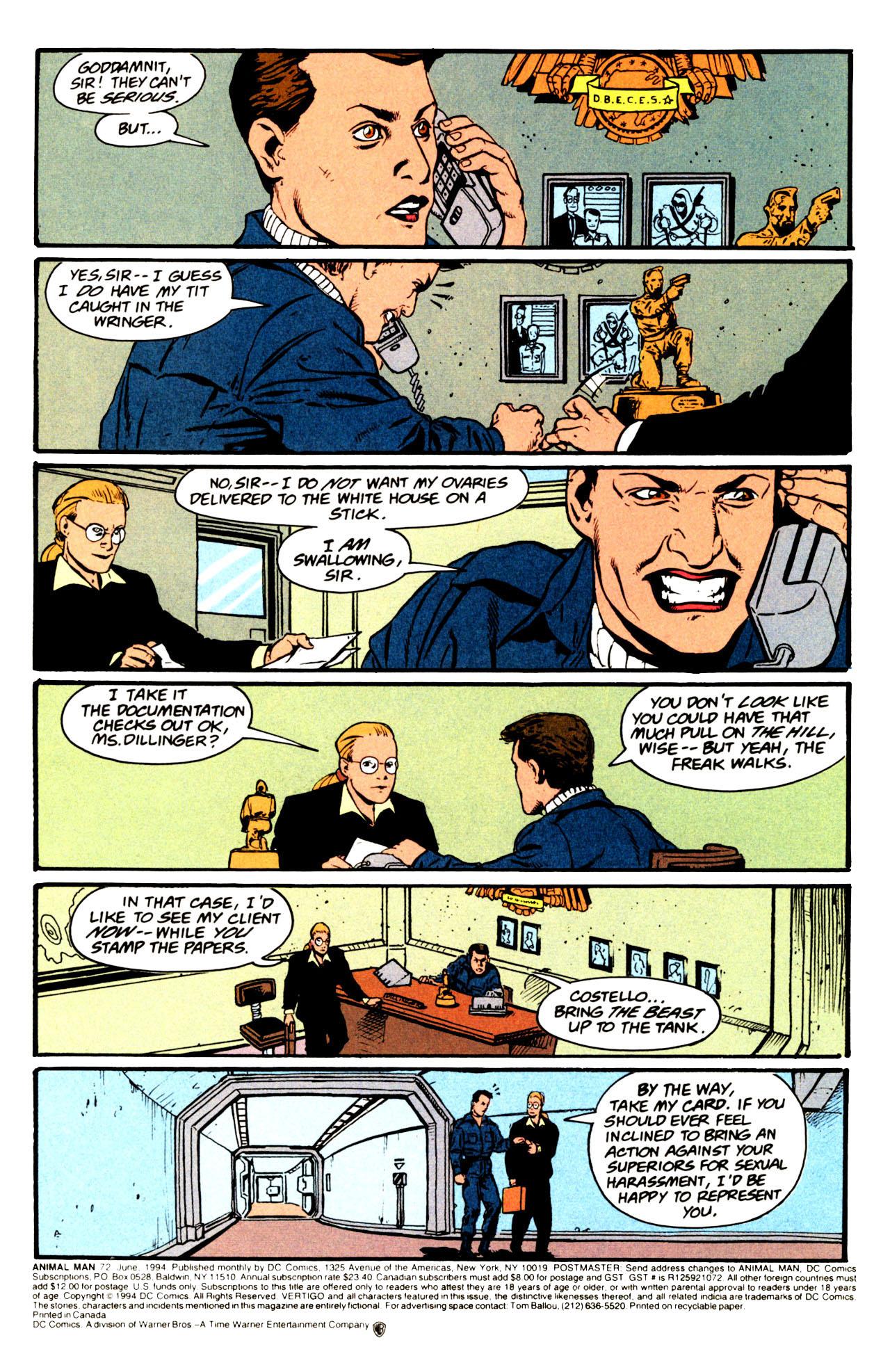 Read online Animal Man (1988) comic -  Issue #72 - 2