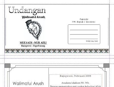 Download Contoh Undangan Walimatul Arush Gratis Filetype: cdr