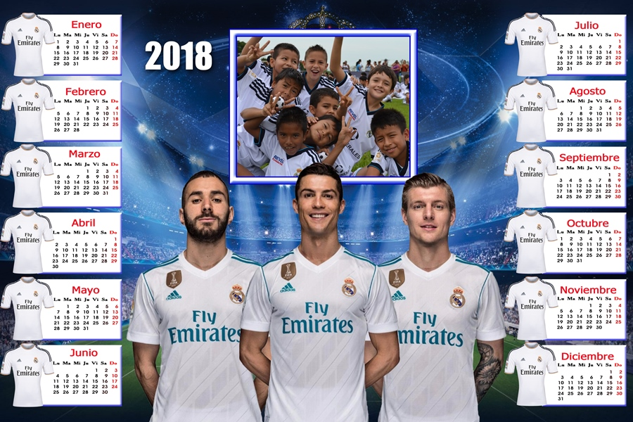 Calendario Del Real.Calendarios Para Photoshop Calendario Del 2018 Del Real
