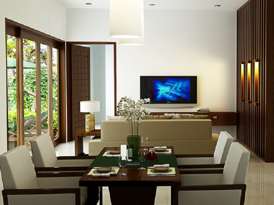 desain ruang keluarga dan ruang makan kumpulan model
