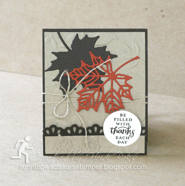 Stampin' Up! Seasonal Layers Thinlits Matchbook