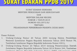 Download Surat Edaran Pelaksanaan PPDB 2019 (SD SMP SMA)