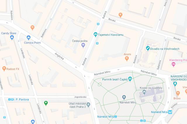 Tajemství hlavolamu - úniková hra Praha - Cashback World - mapa