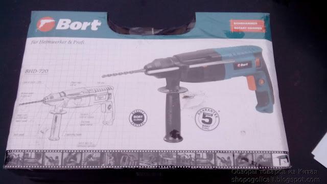 Обзор дрели-перфоратора Bort BHD-720