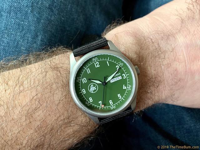 Minuteman A11 green wrist shot