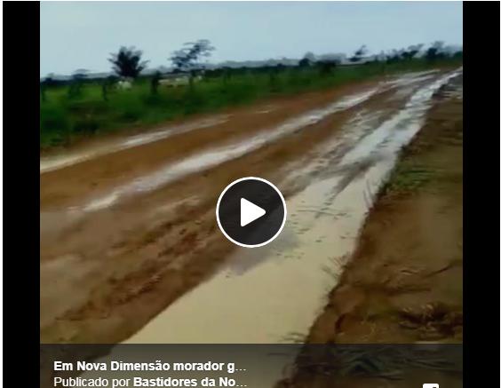 Moradores reclamam de estrada na Zona Rural de Nova Mamoré