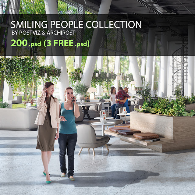 Smiling people - cutout collection for 3d renders | Блог Archirost