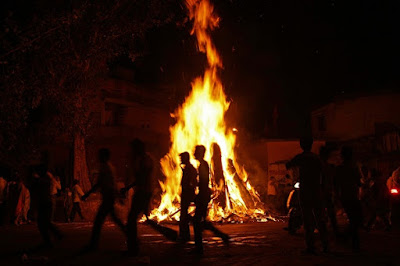 Holi With BonFire