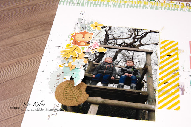 @olgakolov #layout #freestyle #12x12 @scrapberrys #forest_friends