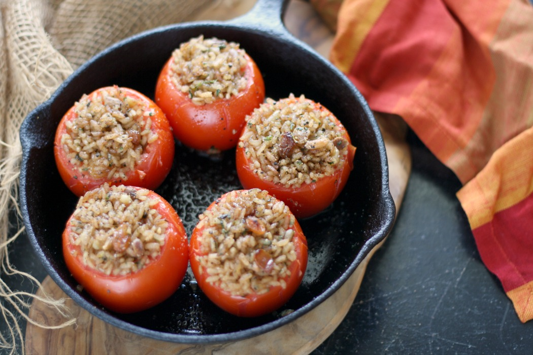 Turkish Stuffed Tomatoes (Domates Dolmasi) | A Touch of Spice #FoodnFlix
