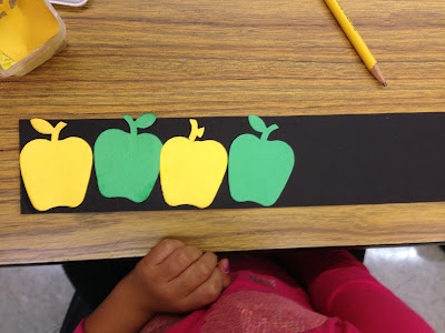 apple patterns for kindergarten math: all about apples