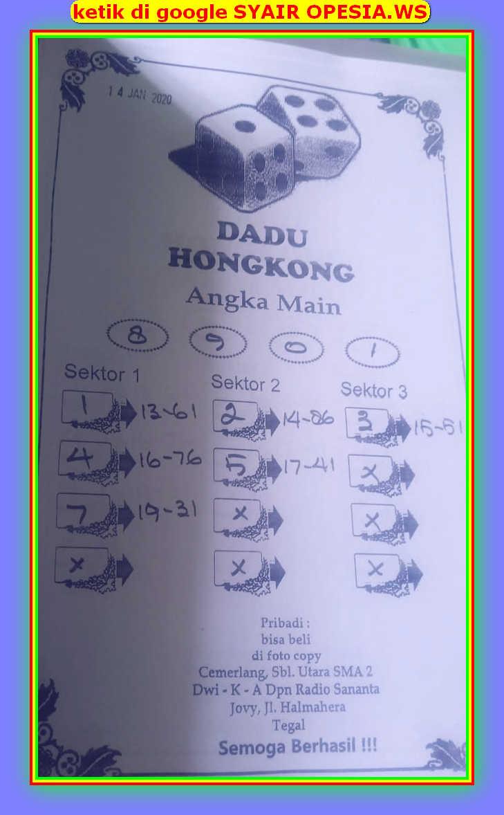 Kode syair Hongkong Selasa 14 Januari 2020 48