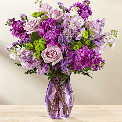 hoa sinh nhật màu tím