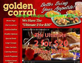 Golden Corral coupons february